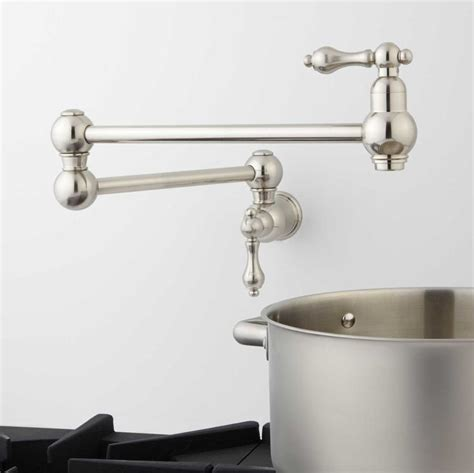 modern pot filler chrome handle kitchen faucet moen brizo