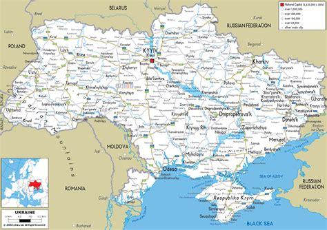 map  ukraine detailed map  ukraine  regions