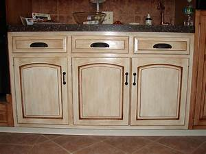 creating distressed wood cabinets only with paint and wax With kitchen colors with white cabinets with distressed shutter wall art