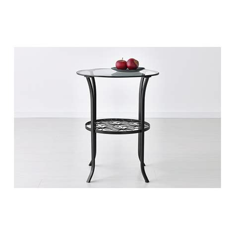 glass end tables ikea klingsbo side table black clear glass 49x60 cm ikea