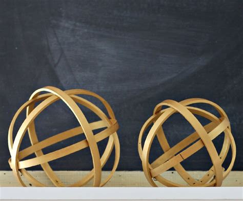 Decorative Orbs Wood Metal Ball Rustic Home Decor Spheres: Organize And Decorate Everything