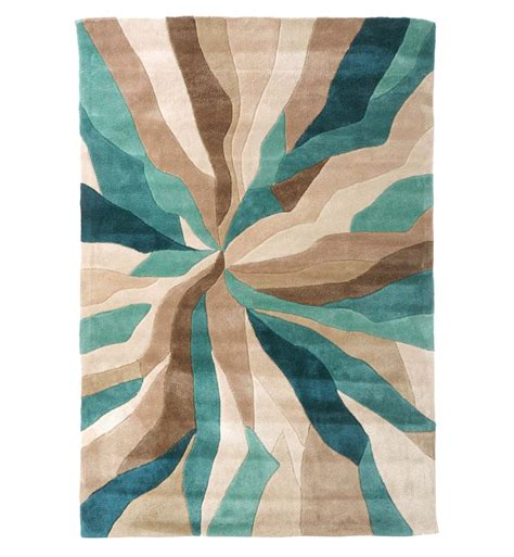 And Teal Rug by Nebula Rug In Beige Teal Blue And Brown