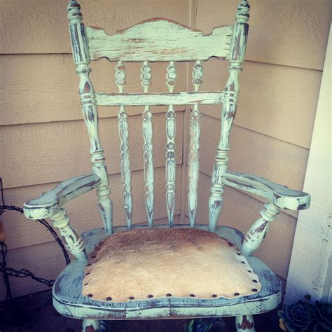 Cowhide Rocking Chair - cowhide rustic ranch chair home d 233 cor home decor