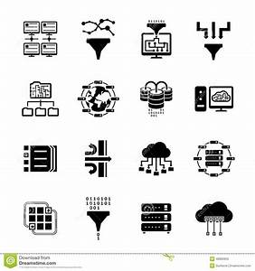 Data Filter And Data Transfer Icons Stock Vector ...
