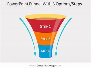Funnel Diagram For Powerpoint With 3 Steps