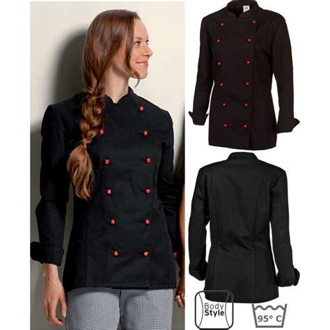 blouse de cuisine femme pas cher veste de cuisine femme manches longues peut bouillir
