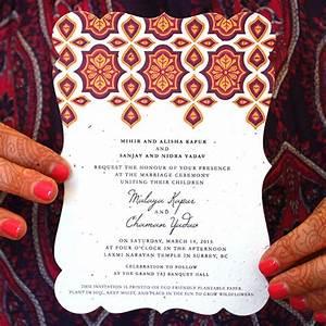 indian motif plantable wedding invitation indian motif With seed paper wedding invitations indian