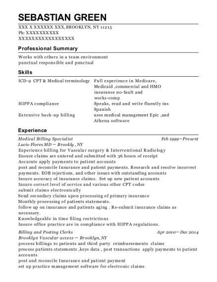 Billing Specialist Resume by Kagan Billing Specialist Resume Sle Cape