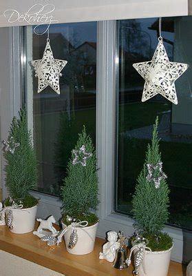 winterliche fensterbank weihnachtsdekoration deko