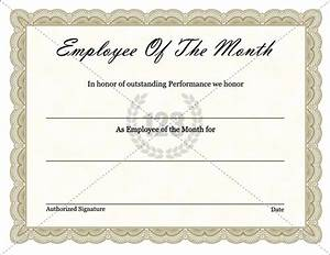 Employee Certificate Templates Free Free Download Employee Of The Month Certificate Example With Brown Pattern And Rectangular Shape