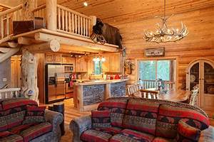Log home interiors yellowstone log homes for Log homes interior designs 2