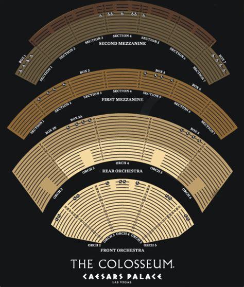 Caesars Palace Colosseum Floor Plan by C 233 Line Dion Tickets Las Vegas 2013