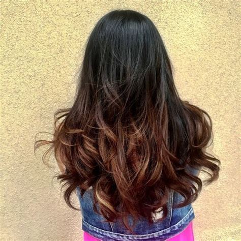 Black Hair With Brown Tips by 40 Ideas For Black Ombre Hair