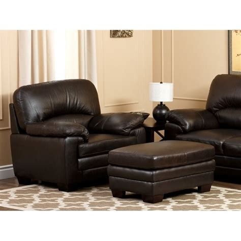 abbyson living lalia leather arm chair in brown ebay