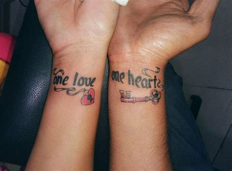 couple tattoos    love  alive