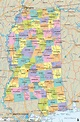 Detailed Political Map of Mississippi - Ezilon Maps