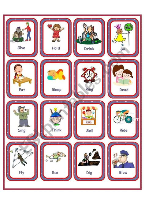 flashcards irregular verbs set  esl worksheet  anna p