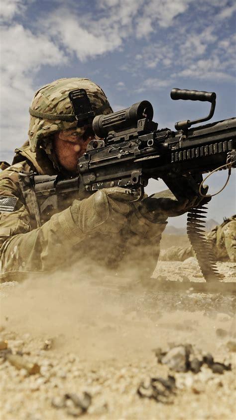 wallpaper soldier  lmg machine gun  army firing