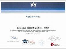 IATA Certificate 力臻