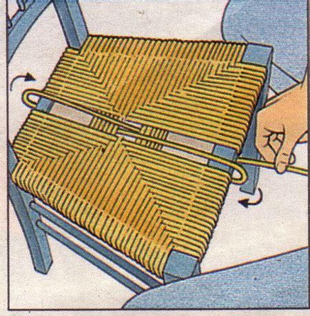 dessus de chaise en paille rempailler une chaise