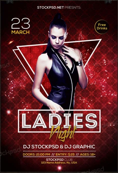 ladies night 2017 download free psd flyer template