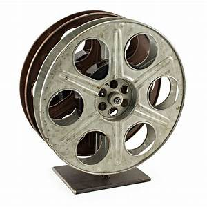 Vintage Film Reel Wine Rack - The Green Head