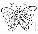 Butterfly Coloring Colouring Pages Simple Printable Drawing Nice Step Butterflies Drawings Draw Clipart Easy Kindergarten Pic Spring Books Sheets Cartoon sketch template