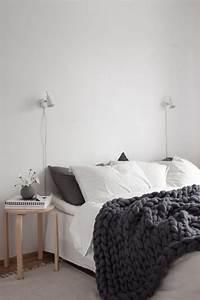 Plaid Laine Grosse Maille : une touche de laine dans la chambre cocon d co vie nomade ~ Teatrodelosmanantiales.com Idées de Décoration