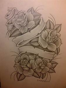Rose Drawings With Banners | www.pixshark.com - Images ...