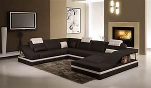 deco in paris canape d angle design noir et blanc atilde With canapé d angle design noir et blanc