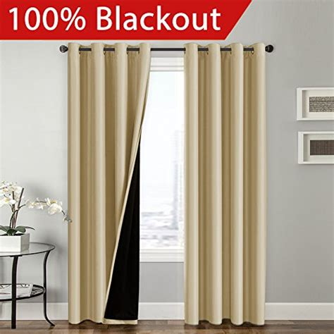 flamingop full blackout wheat curtains faux silk satin