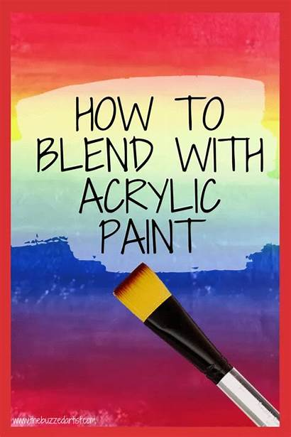 Acrylic Painting Canvas Paint Blend Tutorials Sie