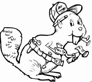Werkzeug Mit A : biber mit werkzeug ausmalbild malvorlage comics ~ Orissabook.com Haus und Dekorationen