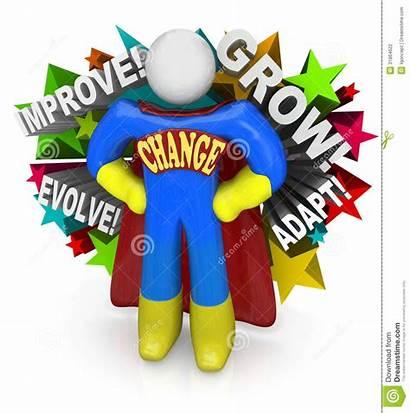Change Adapt Superhero Succeed Clipart Adapting Changes
