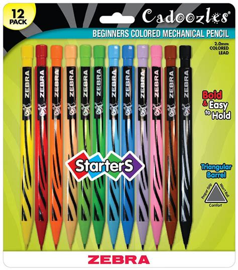 mechanical colored pencils cadoozles mechanical colored pencils 12 pack 066093