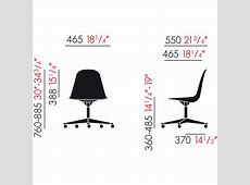 Eames Plastic Side Chair PSCC by Vitra