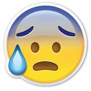 Framed Emoji Pr... Worried Emoji