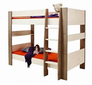 White Wash MDF High Sleeper Bed Frame Kids Bed With Play