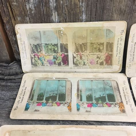 Stereo cards are the easiest form of 3d to produce and share! Lot of antique stereoscope cards,Life of Christ ...