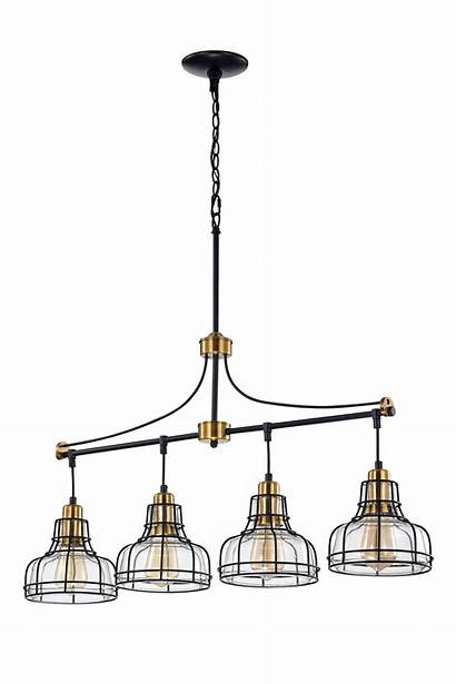 Linear Chandelier Shades Clear Antique Glass Gold