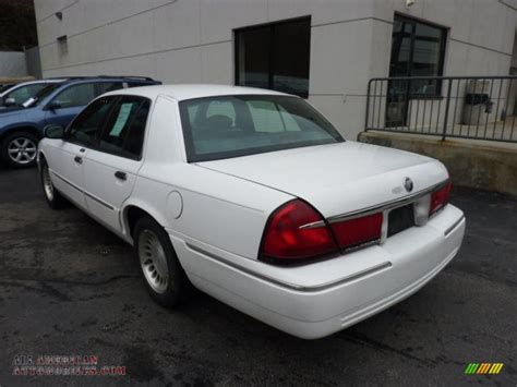 mercury grand marquis ls  vibrant white clearcoat