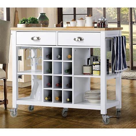 white kitchen island cart wide kitchen island cart in white zh1411891w