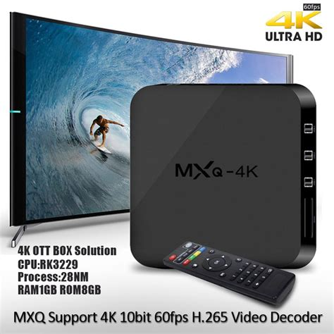 mxq 4k smart android tv box android 4 4 rk3229