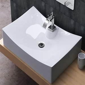 Einbauwaschbecken Eckig Keramik : aufsatzwaschbecken waschschale keramik eckig 67x47cm ~ Bigdaddyawards.com Haus und Dekorationen