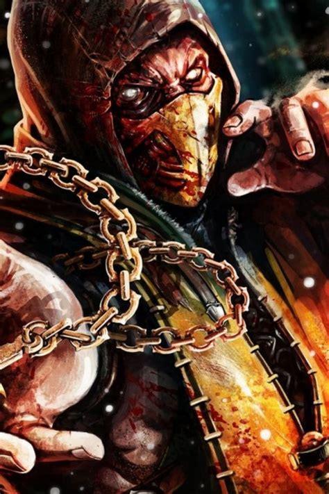 Scorpion Mortal Kombat Wallpaper 640x960 Scorpion Mortal Kombat X Iphone 4 Wallpaper