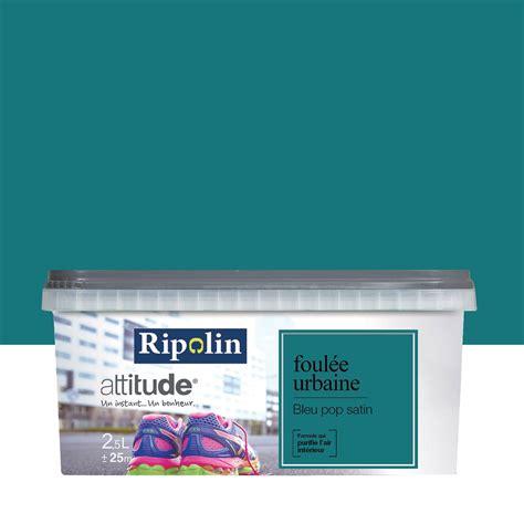 peinture cuisine bleu peinture bleu pop ripolin attitude foulée urbaine 2 5 l leroy merlin