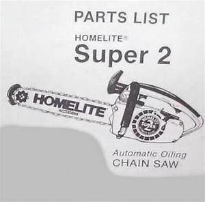 Parts List Manual Ipl Old Homelite Super 2 Chainsaw
