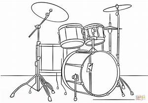 Drum Set Outline | www.pixshark.com - Images Galleries ...