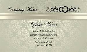 Vintage Pattern Event Planner Business Card - Design #701141