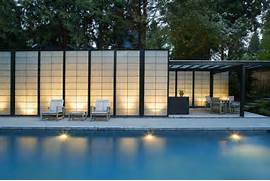 Modern Houses With Pool Modern Translucent Pool House Design Home Decorating Ideas Home